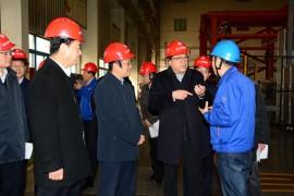 陕西省发改委主任卢建军莅临法士特宝鸡厂区调研