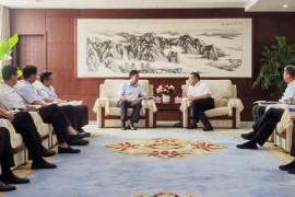 渭南市委、市政府领导会见严鉴铂董事长